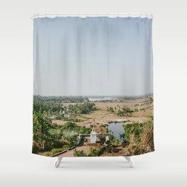 Baradi Holy Cross Chapel in Goa, India (Part II) Shower Curtain