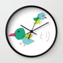 Bird and japanese 'tori' Wall Clock