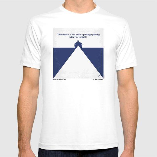 No100 My Titanic minimal movie poster T-shirt