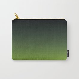 Ombre | Color Gradients | Gradient | Two Tone | Charcoal Grey | Lime Green | Carry-All Pouch