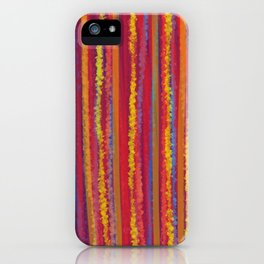 Stripes  - Cheerful yellow orange red and blue iPhone Case