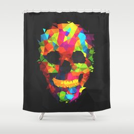 Meduzzle: Colorful Geometry Skull Shower Curtain