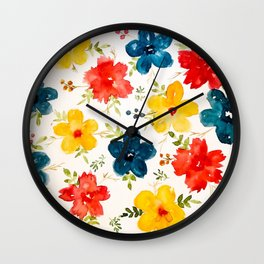 Warm flowers Wall Clock