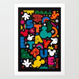 """""""Your True Shapes and Colors - Mickey Mouse"""" by Happyminders Art Print"""
