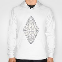 diamond Hoodies featuring Diamond by Mike Willcox