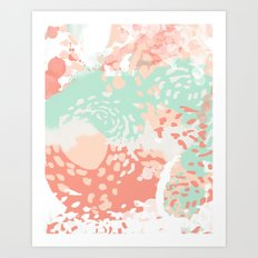 Pippa - Abstract minimal painted pastels painting trendy modern color palette Art Print