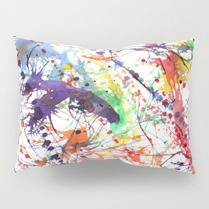 Watercolor Splatters Pillow Sham
