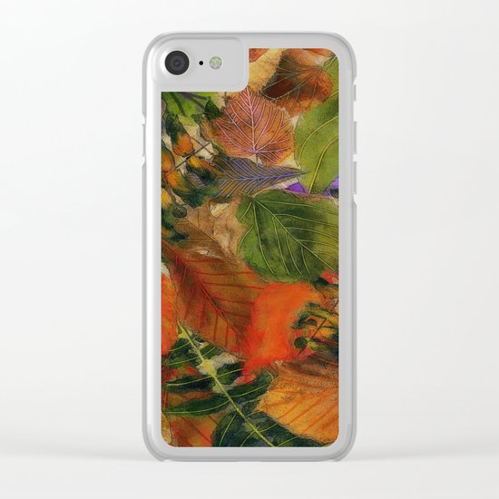 Autumn Leaf Fall 2 Clear iPhone Case