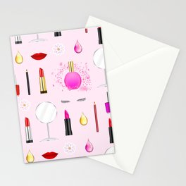 Beauty and makeup Stationery Cards