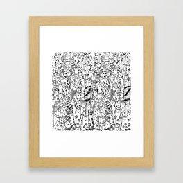 Cat Doodles Framed Art Print