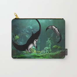 Wonderful manta rays in the deep ocean Carry-All Pouch