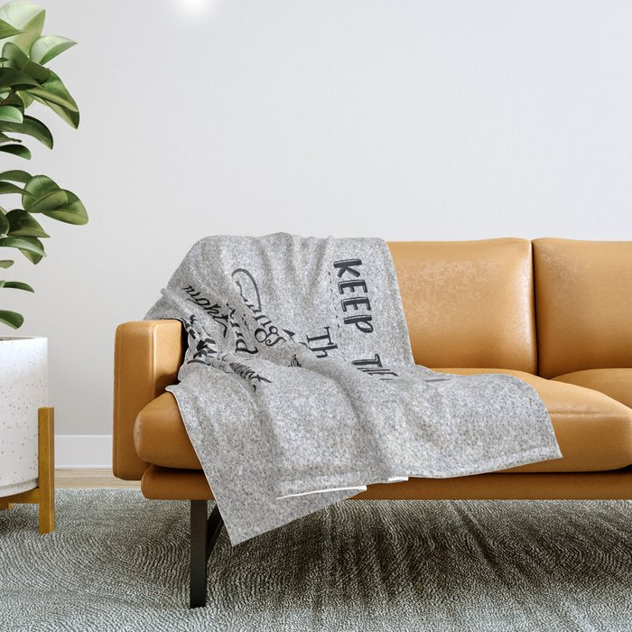 Keep the Faith Quote Typography Throw Blanket