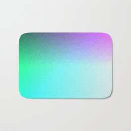 Six Color Ombre Cyan, Purple, Green, Pink, Purple, Blue, Spectrum Flame Bath Mat