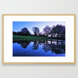 Lake Sunset Framed Art Print