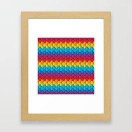 Rainbow Feather 2 Framed Art Print