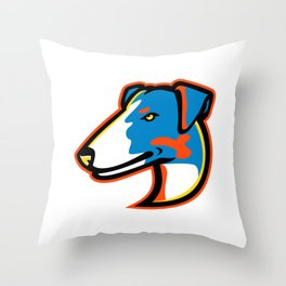 Smooth Fox Terrier Mascot Throw Pillow