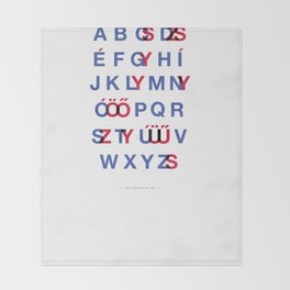 The Hungarian ABC Throw Blanket