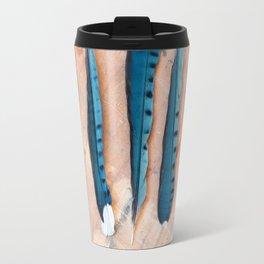 Blue jay feathers Travel Mug