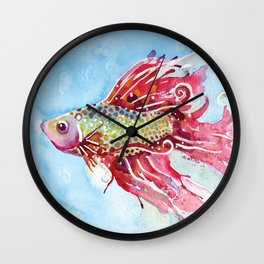 Fish Swim Wall Clock