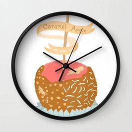 Caramel Apple om nom nom Wall Clock