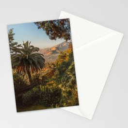 Santiago Chile from San Cristóbal Hill Stationery Cards