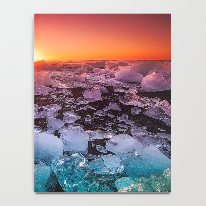 Ice of Antarctica's Sunset Notebook