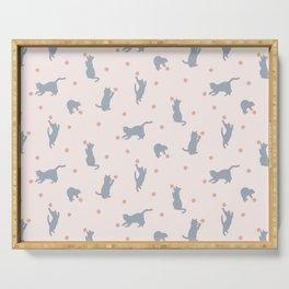 Polka Dot Cats Serving Tray