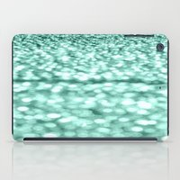 mint iPad Cases featuring Mint Glitter Sparkles by WhimsyRomance&Fun