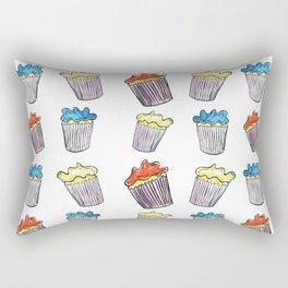 Sweet Tooth Cupcake Pattern Rectangular Pillow