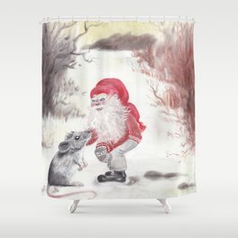 Gnome and mouse Shower Curtain