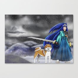 With a friend Canvas Print