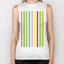 multicolor columns-mutlicolor,abstraction,abstract,fun,line,geometric,geometrical,columns, Biker Tank
