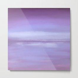 New Day 9 Purple - Abstract Art Series Metal Print