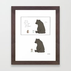Hot Framed Art Print