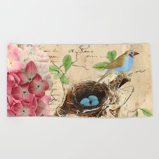 Vintage flower #15 Beach Towel