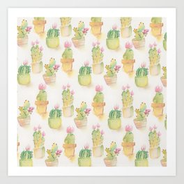 For the Love of Cacti Art Print