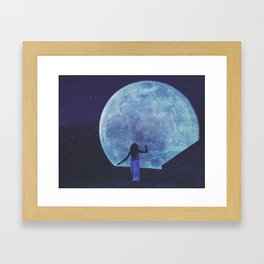 A Trip to the Moon Framed Art Print
