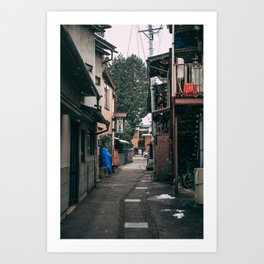 Takayama in the snow Art Print