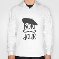 bonjour Hoodies featuring bonjour by miss Sue