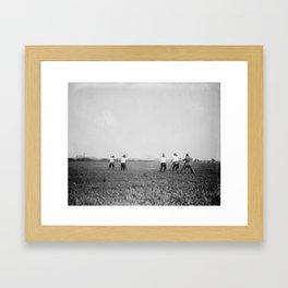 Shooting Framed Art Print