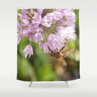 bee Shower Curtains featuring Bee by VAWART