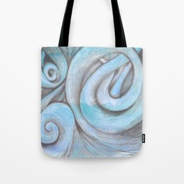 swirl (light blue) Tote Bag