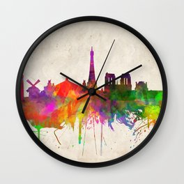 Paris skyline  Wall Clock