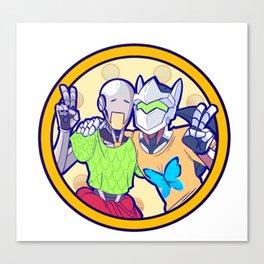 Human and Robot Love - Zenyatta & Genji Canvas Print