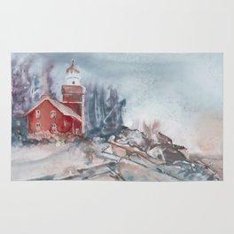 Big Bay Lighthouse Winter Rug