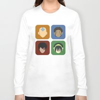 aang Long Sleeve T-shirts featuring Avatar by Raquel Segal