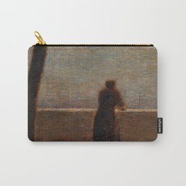 Man Leaning on a Parapet - Georges Seurat Carry-All Pouch
