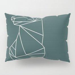 Geometric Doe (White on Slate) Pillow Sham