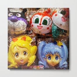 Anime Masks Metal Print