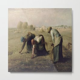 Jean-Francois Millet's The Gleaners Metal Print